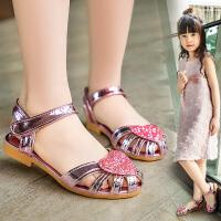 女童鞋公主鞋春夏季女����包�^�和�半�鲂�