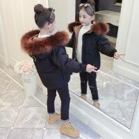 女童冬装外套新款韩版冬季时髦棉衣儿童加厚宝宝洋气棉袄 毛领棉衣(黑色) 110cm(110码建议身高95-105cm年