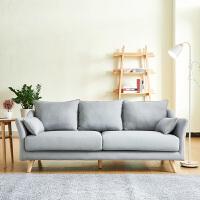 【品牌特惠】北欧风小户型现代简约沙发日式客厅卧室店铺极简双人三人布艺沙发