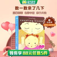 A Kiss & Read Book Counting Kisses数数亲吻宝宝的次数 亲宝宝&阅读书(妈咪说故事)Karen Katz经典英文原版绘本 纸板书 幼儿启蒙认知英文原版读物 亲子童书