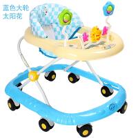 婴儿宝宝学步车防侧翻可折叠多功能带音乐手推男女小孩可坐滑行车