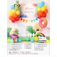 生日趴布置 女孩周岁生日趴体布置一岁宝宝儿童主题派对背景墙装饰气球套餐B