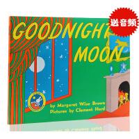 进口英文原版绘本goodnight moon 月亮晚安 Top100本好书推荐平装廖彩杏推荐书单儿童英语绘本睡前故事书