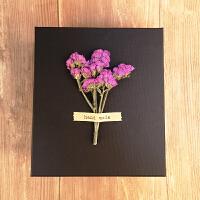 ins风礼物盒子精美礼盒包装盒韩版创意生日礼物大礼品盒简约抖音 勿忘我紫色-含礼物袋+灯串+贺卡 +拉菲草+花束