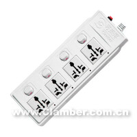 可来博插座   万用四开四位带分位指示灯(STY-1-44)