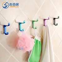 挂衣钩壁挂墙壁 太空铝卫生间浴室厨房衣服帽挂钩单个勾子