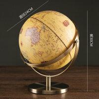 地球仪摆件家居饰品现代简约美式创意客厅书房办公室酒柜装饰摆设 PH D1802(金属底座)
