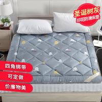 防滑软床垫被褥1.8m床褥子1.5双人0.9米单人学生宿舍1.2铺榻榻米 灰色 8斤 厚款