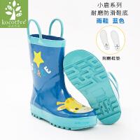 儿童雨鞋可爱男童女童雨鞋学生四季防滑小孩雨靴公主胶鞋宝宝水鞋