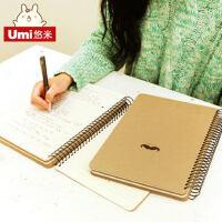 UMI韩国进口创意文具小胡子先生笔记本 记事本 日记本 线圈本本子