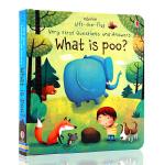 进口英文原版绘本 What is Poo? 纸板翻翻书 便便是什么?儿童科普图画书 宝宝习惯养成
