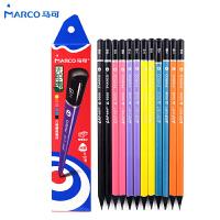 马可9008黑木三角杆铅笔 HB 小学生铅笔 安全无毒 儿童铅笔 12支
