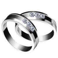 梦克拉 18k钻石戒指情侣钻石对戒 群镶钻石戒指情侣对戒18k金 缘定三生 求婚结婚钻戒