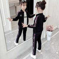 2019春秋季新款中大童时尚运动服装三件套女童秋装套装