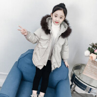 女童冬装棉服韩版童装2018新款中大童加厚外套冬季棉袄儿童棉衣潮
