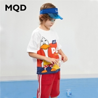 【2件3折:189】MQD童装男童套装2020夏圆领儿童卡通两件套运动中大童