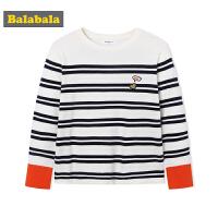 巴拉巴拉女童打底衫长袖中大童儿童秋装女2018新款时尚条纹T恤潮