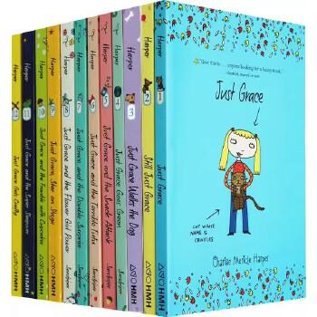 英文原版 The Just Grace Series系列 12册 儿童桥梁章节小说 6-9岁 伊娃·伊博森 小学生女孩阅读推荐 英文课外阅读