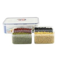 乐扣乐扣保鲜盒塑料HPL834C 3.9L微波分隔格餐盒饭盒便当盒 透明