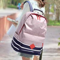 个性防水尼龙布双肩包复古韩版高中生初中学生书包男女士旅行背包