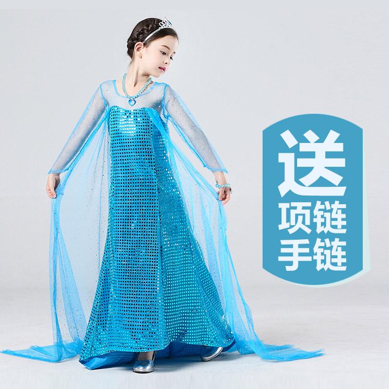 【酷酷鼠裙子】冰雪奇缘公主裙夏季艾莎春秋装长袖裙.