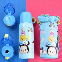 迪士尼 700ML米奇水杯 304不锈钢保温水杯 三盖(直饮吸管式、直饮小口式、内外盖式)配送杯套