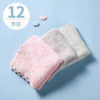 纯棉婴儿童毛巾吸水面巾速干柔软洗脸小方巾家用女四方口水擦手巾