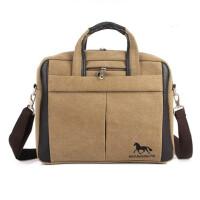 单肩包手提包笔记本包帆布包商务休闲14寸电脑包斜跨包