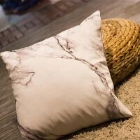 布艺沙发大理石纹抱枕ins靠垫床上靠枕床头办公室腰枕 +枕心 45x45cm