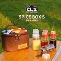 迷你调味瓶套装户外野营烧烤调料罐厨房便携收纳调料盒6件组合