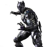PA改死侍蜘蛛侠黑豹手办玩具复仇者周边模型生日礼物摆件可动 钢铁侠 蜘 Black Panther