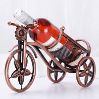 加粗 创意家居红酒架装饰品酒柜摆件欧式工艺品酒瓶架铁艺品酒架