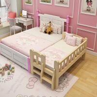 儿童床带护栏男孩单人床女孩公主床婴儿床边床实木加宽拼接床大床a362zf03 其他