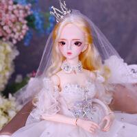 芭比娃娃 新年礼物 精品 德必胜娃娃梦童话系列60cm 26关节3分娃仿真玩具女孩公主礼物bjd换装 雪莉儿