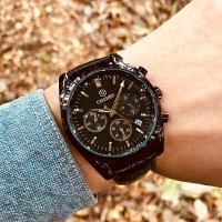 手表男皮带石英表防水商务手表时尚潮流腕表男手表