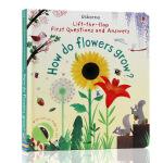 英文原版绘本How Do Flowers Grow花朵的生长Usborne Lft-The-Flap 儿童百物科科普读