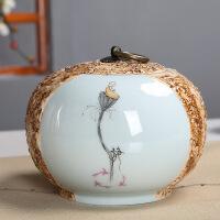 石头纹茶叶罐 陶瓷中号存储密封罐茶盒 普洱茶罐家用中国风 个性茶罐 石头纹茶叶罐(静款)