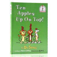 苏斯博士Ten Apples Up On Top Dr. Seuss头顶十个苹果英文原版绘本 儿童精装英语图画故事书