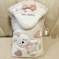 婴儿抱被秋冬韩国有机妈妈婴儿抱被新生儿春秋冬季抱被包毯宝宝四季被子wk-57