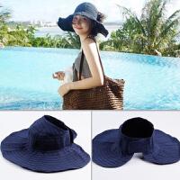 可折叠帽女夏季防晒遮阳帽子百搭出游户外大沿骑车防紫外线太阳帽