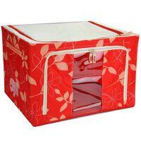 维特尔 66L优质牛津布百纳箱 收纳箱 整理箱 可上面前面开盖红