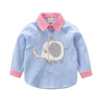 男宝宝上衣春装衬衣2019童装新款 儿童竖条纹长袖衬衫