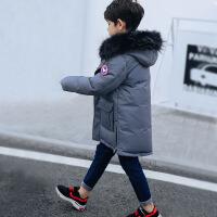 儿童羽绒服男童中长款反季中大童装加厚外套新款