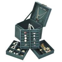 复古首饰盒绒布三内盘收纳盒欧式精致小号饰品盒公主简约珠宝盒子