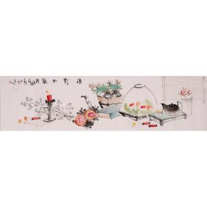 王建秋《清影如歌》大尺幅 国画 精品 装饰 送人字画的佳品