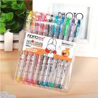 奥博GP-1888A 彩色中性笔 0.38mm全针管笔尖 10色彩色中性笔