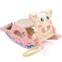 宝宝滑滑梯室内家用组合小型带音乐1-6岁儿童摇马滑梯二合一