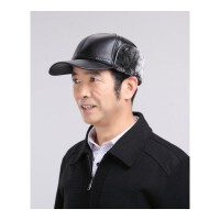 中老年男士帽子秋冬季保暖帽爸爸老人帽子男冬天护耳帽加厚雷锋帽