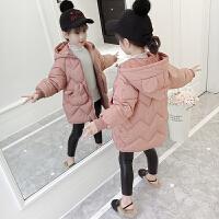 女童冬装棉衣2018新款儿童加厚羽绒棉外套童装韩版中长款棉袄