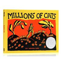 英文原版 Millions of Cats 一百万只猫 1929年纽伯瑞奖银奖 刘易斯?卡洛尔书架奖 每个人都应该知道